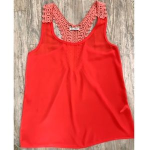 Lace strapped Tank top